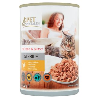 Tesco Pet Specialist Chicken in Gravy Food for Adult Sterile Cats 415 g