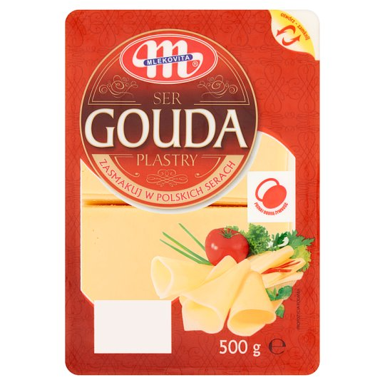 Mlekovita Ser Gouda plastry 500 g
