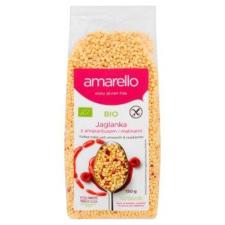 Amarello Bio Puffed Millet with Amaranth and Raspberries 150 g