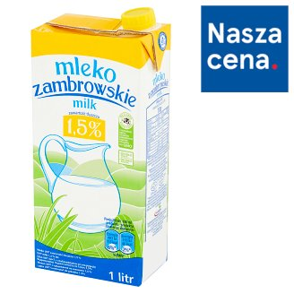 Zambrowskie UHT Milk 1.5% Fat 1 L