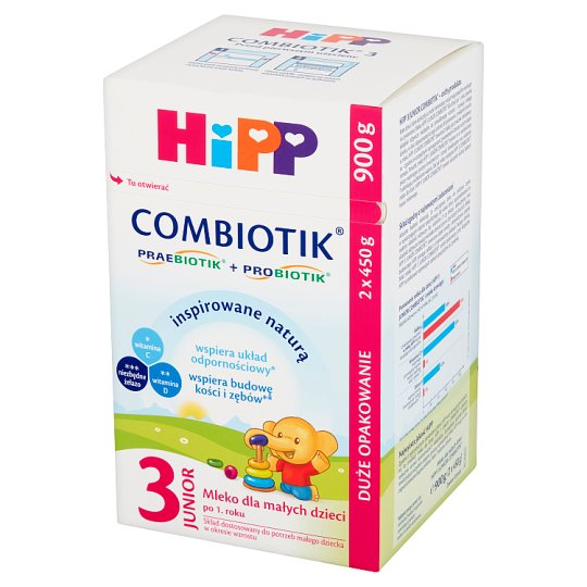 HiPP Junior Combiotik 3 Powdered Milk for Babies after 1 Year Onwards 900 g (2 Pieces)