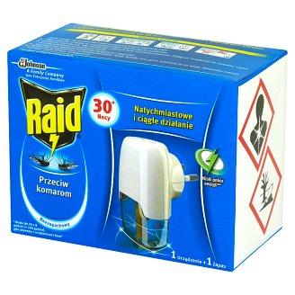 Raid Przeciw komarom Elektrofumigator z płynem owadobójczym Urządzenie i zapas 21 ml