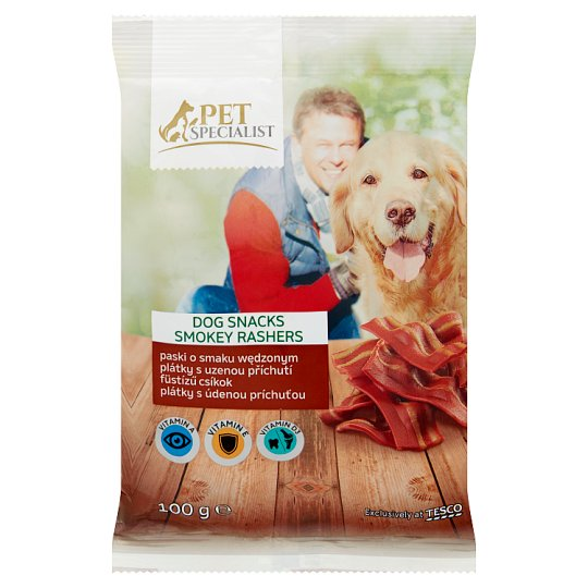 Tesco Pet Specialist Dog Snack Smoked Strips Food for Adult Dogs 100 g