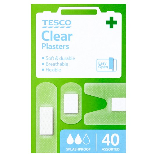 Tesco Clear Plasters 40 Pieces