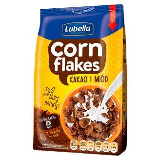 Lubella Corn Flakes Kakao i miód Płatki kukurydziane 200 g