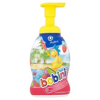 Bobini Pianka do mycia rączek buzi ciała z ekstraktem z owsa malina 300 ml