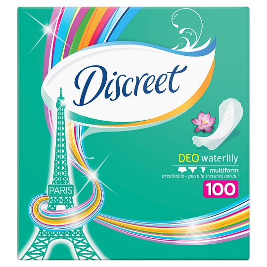 Discreet Breathable Multiform Waterlily Panty Liners 100X