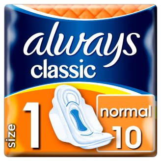 Always Classic Normal Sanitary Towels Wings 10x