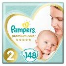Pampers Premium Care rozmiar 2 (Mini), 3-6kg, 148 pieluszek