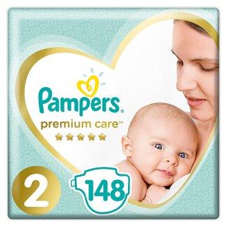 Pampers Premium Care rozmiar 2 (Mini), 3–6kg, 148 pieluszek