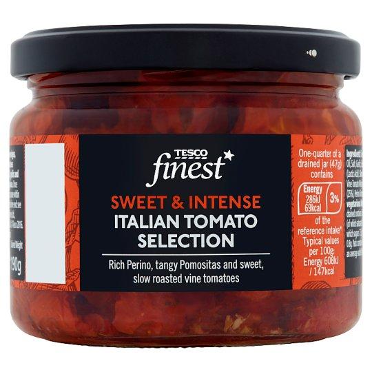 Tesco Finest Suszone pomidory marynowane w oleju słonecznikowym 290 g