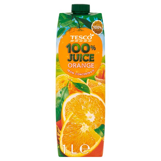 Tesco Orange from Concentrate 100% Juice 1 L
