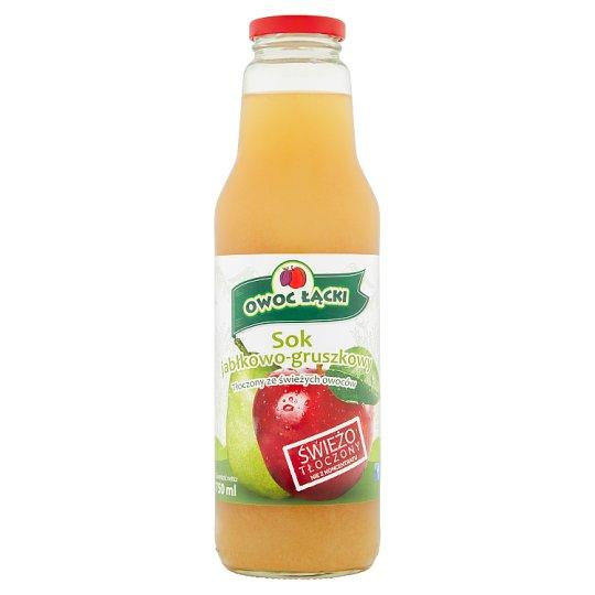 Owoc Łącki Sok jabłkowo-gruszkowy 750 ml