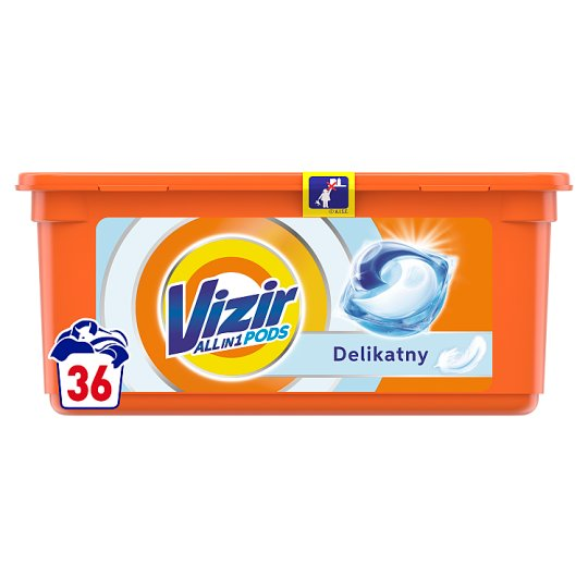 Vizir Washing Capsules Sensitive Triple Action: Cleans Deep, Removes Stains & Gentle Care 36 Washes