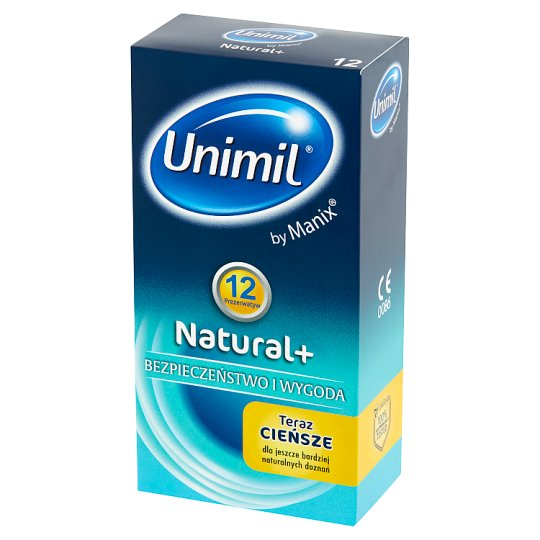 Unimil Natural+ Condoms 12 Pieces