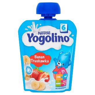 Nestlé Yogolino Deserek owocowo-mleczny banan truskawka po 6 miesiącu 90 g
