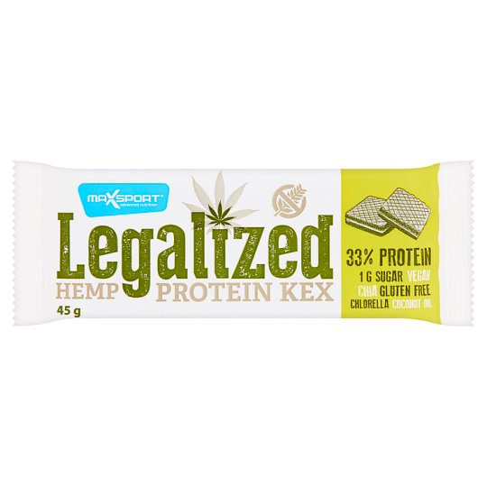 MaxSport Legalized Hemp Wafer with Cream Filling 45 g