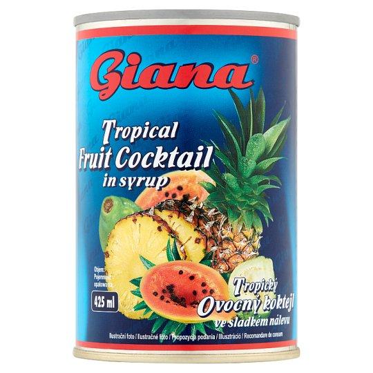 Giana Tropikalny koktajl owocowy w zalewie 425 g