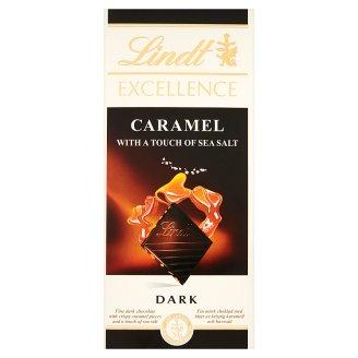 Lindt Excellence Czekolada ciemna z kawałkami karmelu i odrobiną soli morskiej 100 g