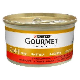 Gourmet Gold Pełnoporcjowa karma dla dorosłych kotów mus z wołowiną 85 g