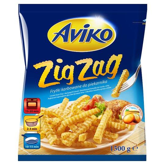 Aviko Zig Zag Frytki karbowane do piekarnika 1500 g