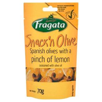 Fragata Snack'n Olive Zielone oliwki drylowane z cytryną i oliwą z oliwek 70 g