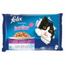 Felix Fantastic Junior Wybór smaków w galaretce Karma dla kociąt 4 x 100 g