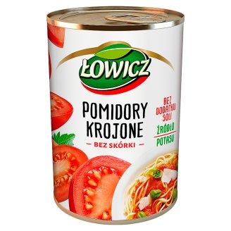 Łowicz Pomidory krojone bez skórki 400 g