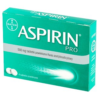 Aspirin Pro Coated Tablets 4 Pieces