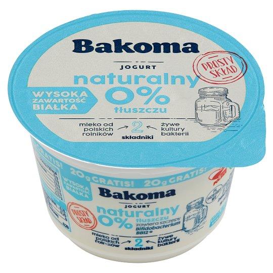 Bakoma Natural Yoghurt 0% 170 g