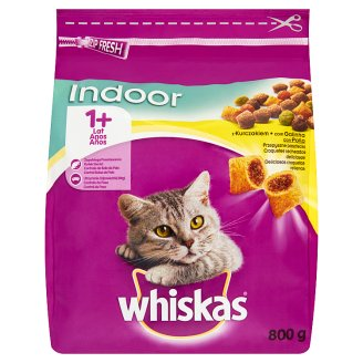 Whiskas Indoor Complete Cat Food Delicious Pasty with Chicken 1+ Year 800 g
