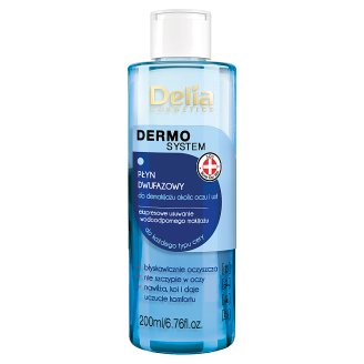 Delia Cosmetics Dermo System Two-phase Liquid to Eye and Lip Make-up Removal 200 ml