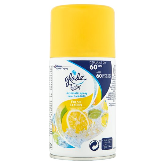 Glade by Brise Automatic Spray Fresh Lemon Air Freshener Refill 269 ml