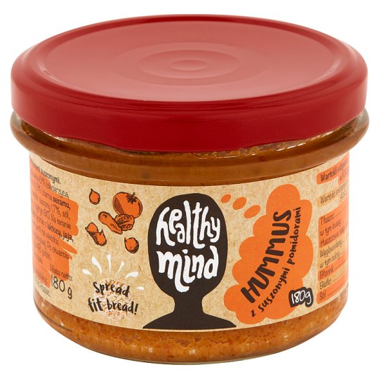 Healthy Mind Hummus with Dried Tomatoes 180 g