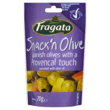 Fragata Snack'n Olive Spanish Olives with Red and Yellow Pepper and Olive Oil 70 g