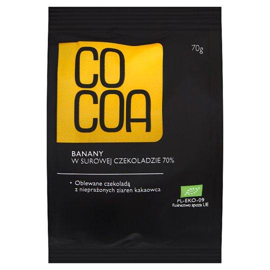Cocoa Banany w surowej czekoladzie 70% 70 g