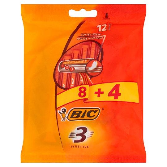 Bic 3 Sensitive Disposable Razors 12 Pieces