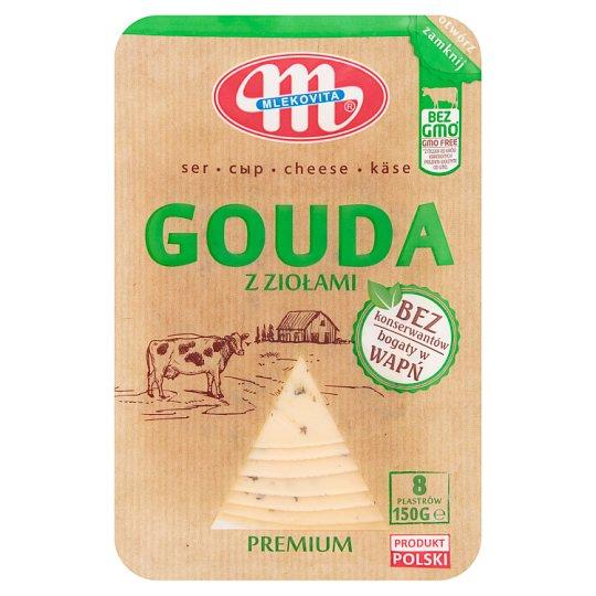 Mlekovita Gouda z ziołami Ser w plastrach 150 g