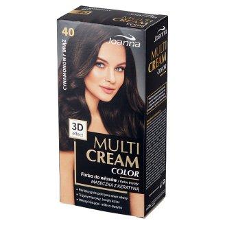 Joanna Multi Cream color Farba do włosów 40 Cynamonowy brąz