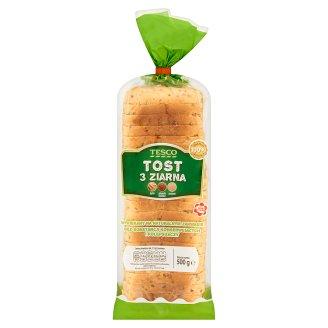 Tesco 3 Grains Toast Wheat Bread 500 g