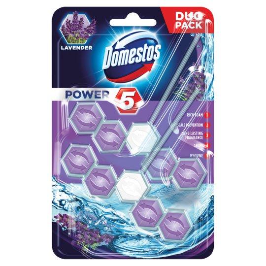 Domestos Power 5 Lavender Kostka toaletowa 2 x 55 g