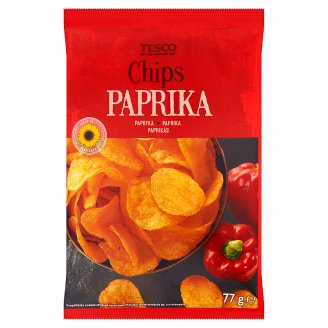 Tesco Paprika Flavour Chips 77 g