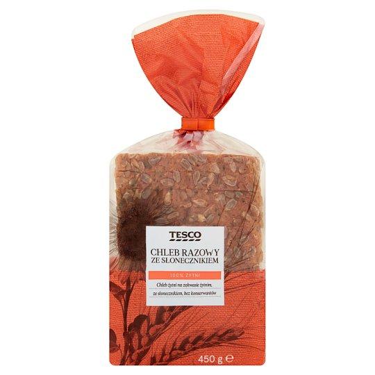 Tesco Chleb razowy ze słonecznikiem 450 g