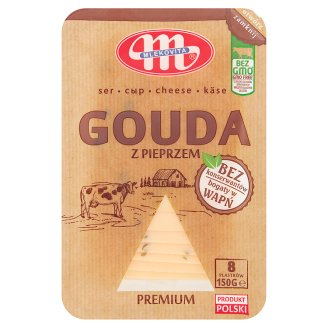 Mlekovita Gouda with Pepper Sliced Cheese 150 g