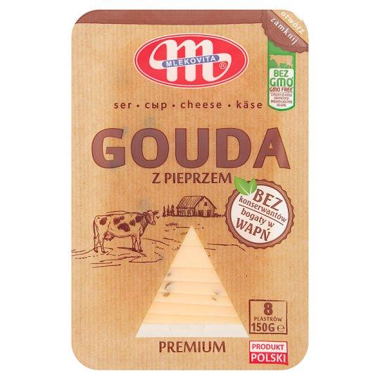 Mlekovita Gouda with Pepper Sliced Cheese 150 g