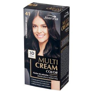 Joanna Multi Cream color Farba do włosów 41 Czekoladowy brąz