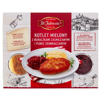 U Jędrusia Kuchnia Polska Kotlet mielony z ziemniakami i buraczkami 400 g