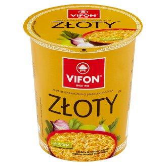 Vifon Kurczak Złoty Zupa błyskawiczna o smaku kurczaka łagodna 60 g