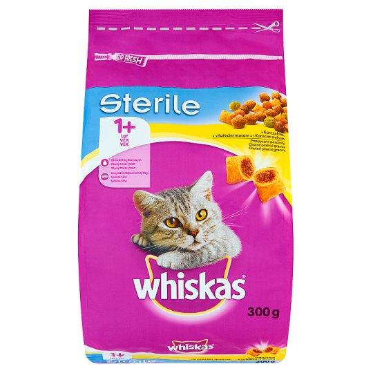 Whiskas Sterile 1+ Year Pet Food for Adult Cats Delicious Pasty with Chicken 300 g