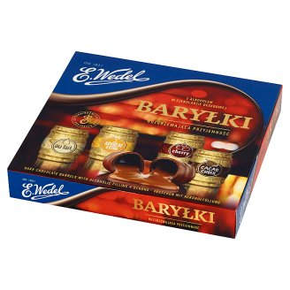 E. Wedel Dark Chocolate Barrels with Alcoholic Filling 200 g